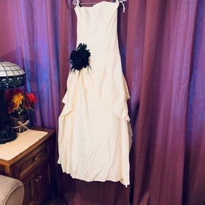 Striking McClintock gown with court train